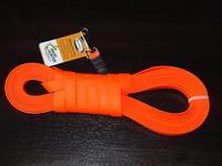 Plochý barvářský řemen Biothane Beta 19 mm s karabinou - oranžový, 12 M