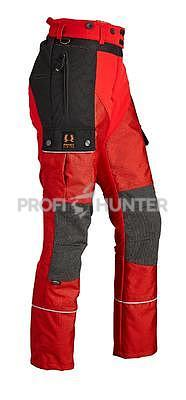 Dámské ochranné kalhoty proti zbraním černé zvěře - červené, XS - 1