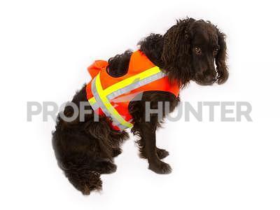 Reflexní vesta pro psa - oranžová, Velikost 0