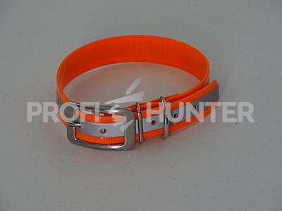 Obojek Biothane reflexní - oranžový 25 mm - 1
