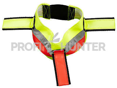 Reflexní obojek na gumu s třásněmi - žlutý, 48