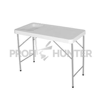 Skládací a mobilní stůl se dřezem
