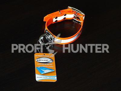 Barvářský obojek Biothane reflexní - oranžový, S - 2