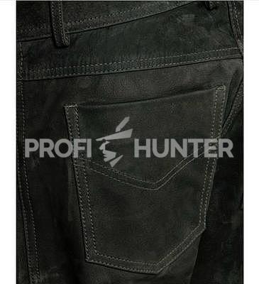 Dámské kožené kalhoty Parforce Buvolí kůže - Oliv - 2