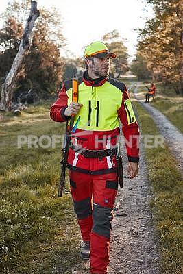 Ochranné kalhoty pro psovody proti černé zvěři - červené, S - 2