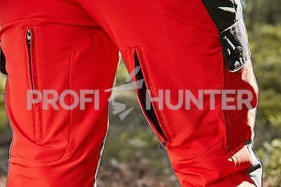 Dámské ochranné kalhoty proti zbraním černé zvěře - červené, 2XL - 3