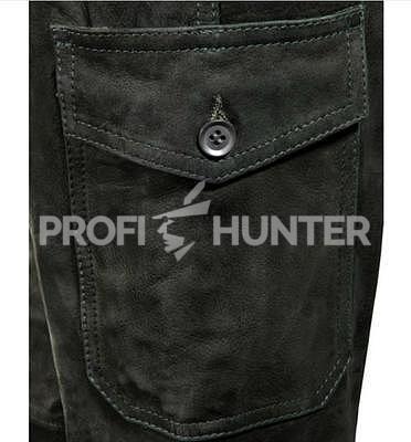 Dámské kožené kalhoty Parforce - Buvolí kůže s kapsou na nůž - 3