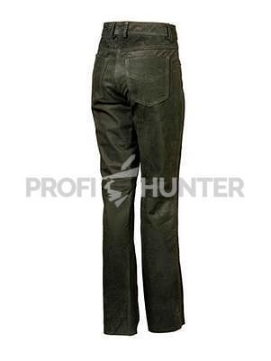 Dámské kožené kalhoty Parforce Buvolí kůže - Oliv - 3