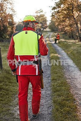 Ochranné kalhoty pro psovody proti černé zvěři - červené, S - 3