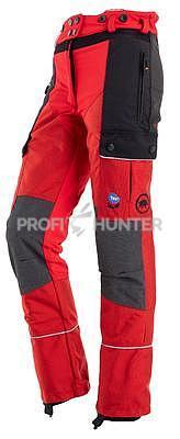 Dámské ochranné kalhoty proti zbraním černé zvěře - červené, 2XL - 4