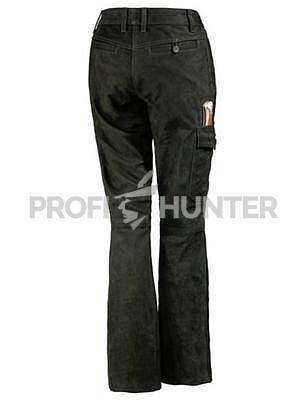 Dámské kožené kalhoty Parforce - Buvolí kůže s kapsou na nůž - 4