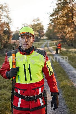 Ochranné kalhoty pro psovody proti černé zvěři Nordforest - červené, S - 4