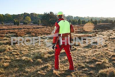 Ochranné kalhoty pro psovody proti černé zvěři - červené, S - 7